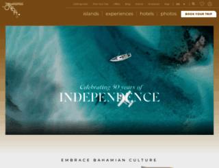 bahamas.com screenshot