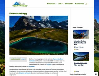 bahnhof-scheidegg.ch screenshot