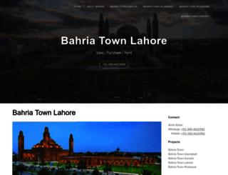bahriatownlahore.com screenshot