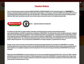 baidyanath.co.in screenshot
