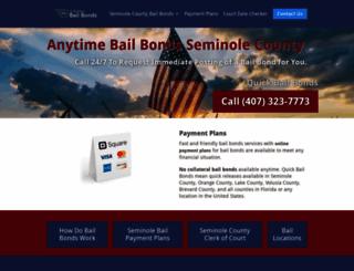 bailbondsmanseminolecounty.com screenshot
