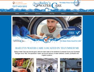 baileyswatercare.com screenshot