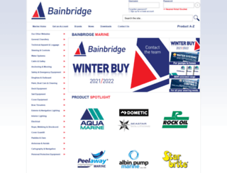 bainbridgemarine.co.uk screenshot