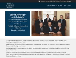 bairdmcgregor.com.au screenshot