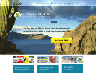 bajagoodlifeclub.com screenshot