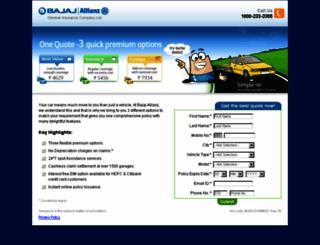 bajaj-allianz.co.in screenshot