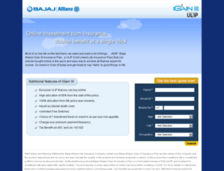 bajajallianz-igain.com screenshot