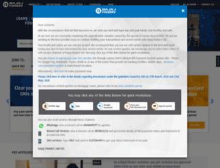 bajajfinance.com screenshot