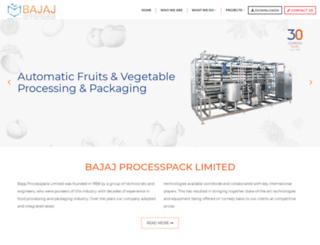 bajajprocesspack.com screenshot