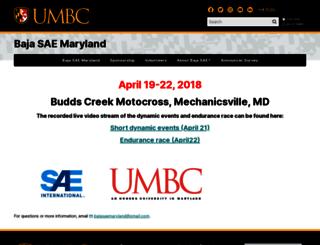 bajasaemaryland.umbc.edu screenshot