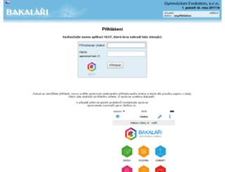 bakalari.gjm.cz screenshot