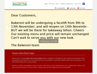 bakeroni.com screenshot