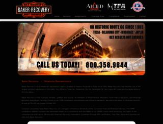 bakerrecovery.com screenshot