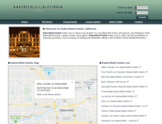 bakersfield.allcaliforniahotels.com screenshot