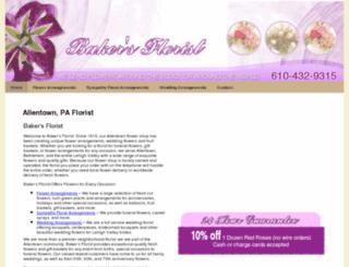bakersflorist-flowershop.com screenshot