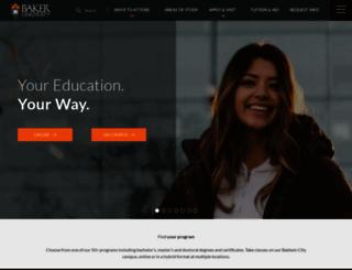 bakeru.edu screenshot