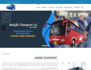 bakshitransport.com screenshot