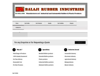 balaji-rubber.in screenshot