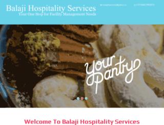balajihospitalityservices.com screenshot