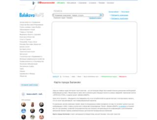 balakovomaps.ru screenshot