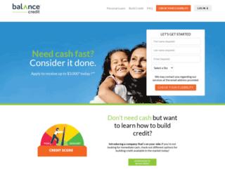 balancecredit.com screenshot