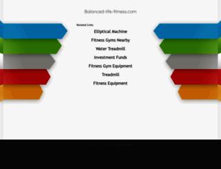 balanced-life-fitness.com screenshot