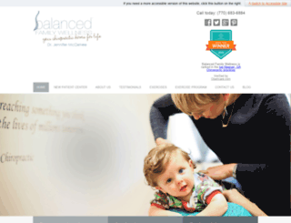 balancedfamilywellnesscom.chiromatrixbase.com screenshot