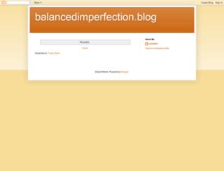 balancedimperfection.blogspot.com screenshot