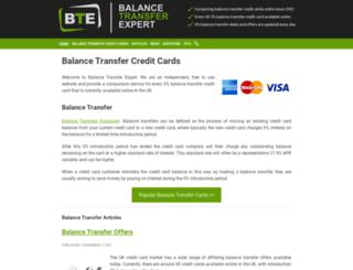 balancetransferexpert.co.uk screenshot