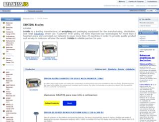 balanza-ishida.balanzas.us screenshot