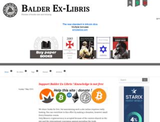 balderexlibris.com screenshot