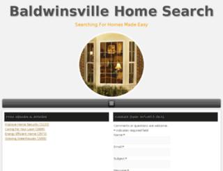 baldwinsvillehomesearch.com screenshot