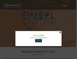 balealsurfcamp.com screenshot