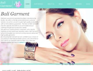 bali-garment.com screenshot