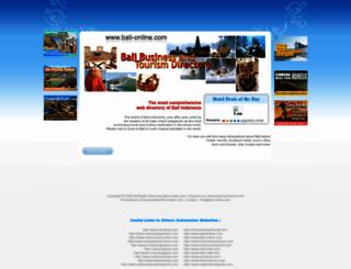 bali-online.com screenshot