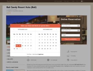 bali-sandy-resort.balikutahotel.com screenshot