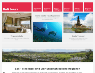 bali-tours.de screenshot