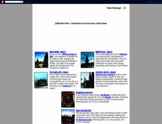 balibestplace.blogspot.com screenshot
