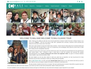 baliclassictour.com screenshot