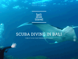 balidivetravel.com screenshot