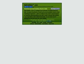 baliholiday.com screenshot