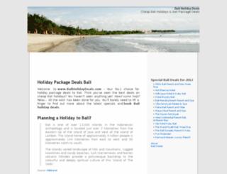 baliholidaydeals.com screenshot