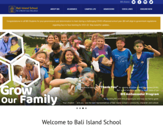 baliinternationalschool.com screenshot