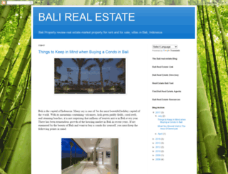 balirealestate.blogspot.com screenshot