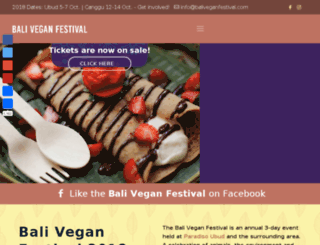 baliveganfestival.com screenshot