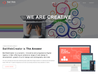 baliwebcreator.com screenshot