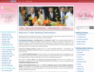 baliweddingdestinations.com screenshot