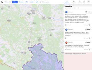 balkans.liveuamap.com screenshot
