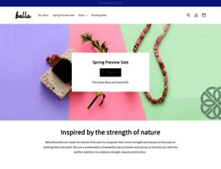 ballabracelets.myshopify.com screenshot