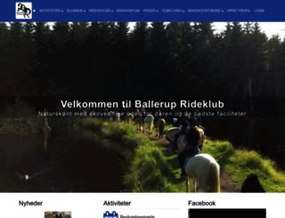 balleruprideklub.dk screenshot